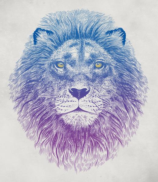 Dibujo de león de Rachel